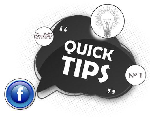 facebook Tips #1